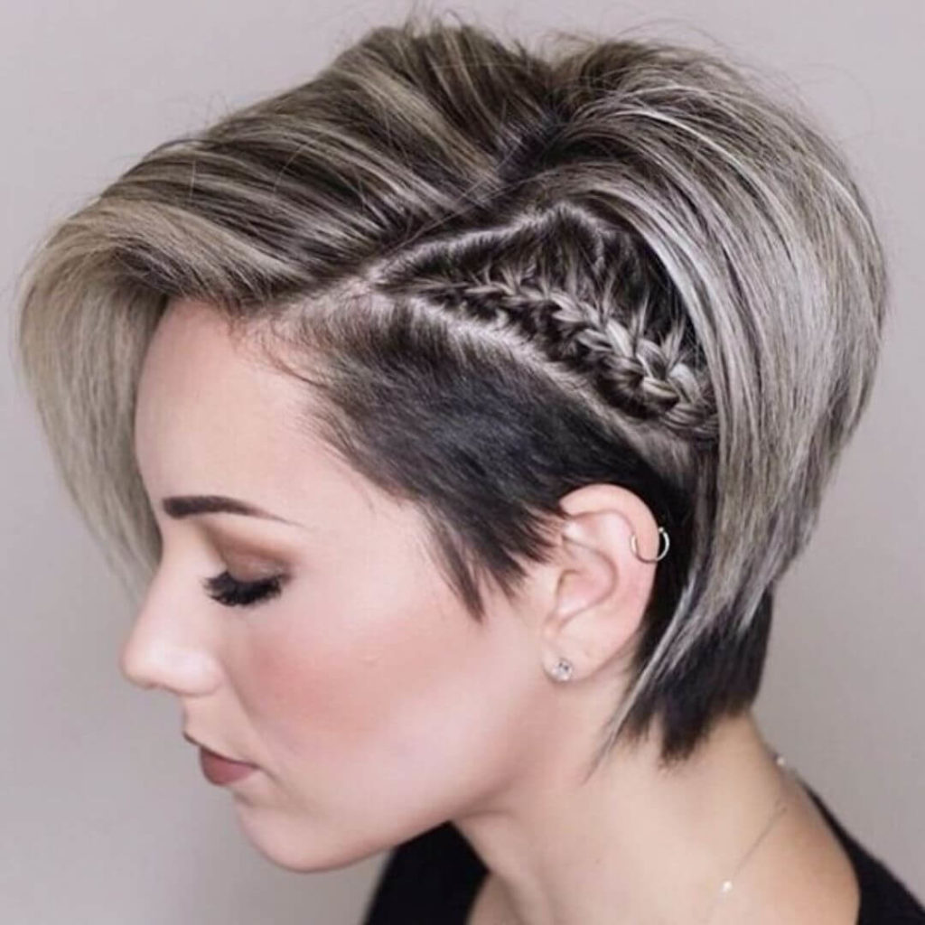Undercut Hairstyle With Braid for women