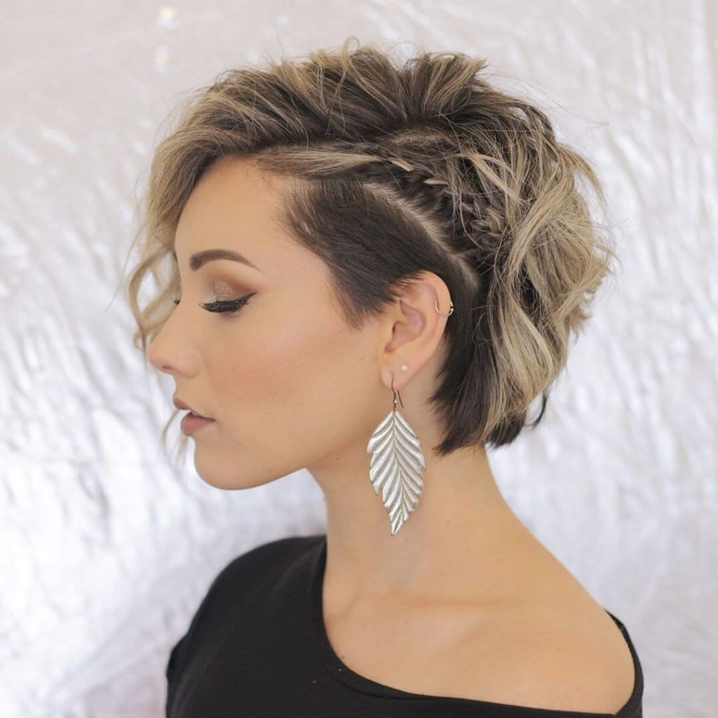 Short Hairstyle With Shaved Temple