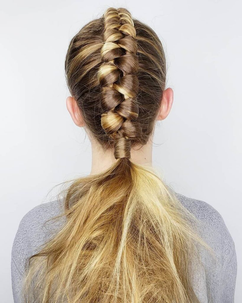 Sweet Braided Ponytails For Teenage Girls