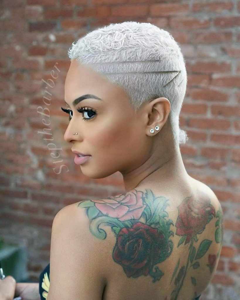 African American short pixie cut