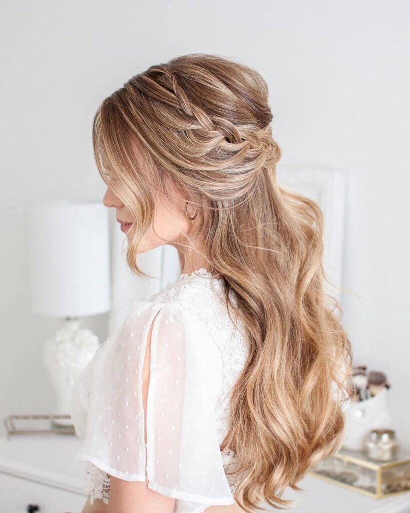 Half Up Lace Braid